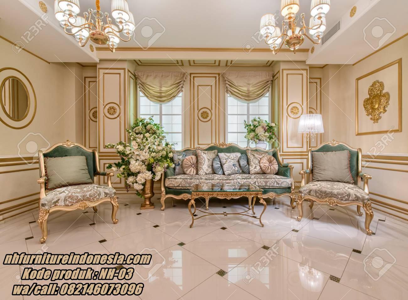 Set Sofa Ruang Tamu Mewah Terbaru Set Sofa Ruang Tamu Luxury 2020 Nh Furniture Indonesia Interior ruang tamu mewah